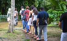 A trilha Afro Amazonicos e seus símbolos faz parte da programação do Domingo é Dia de Ciência  Foto: Suellen Dias