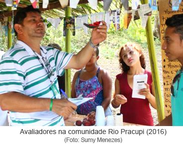 Avaliadores na comunidade Rio Pracupi