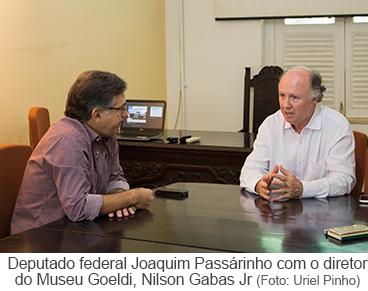 Deputado federal Joaquim Passarinho com o diretor do Museu Goeldi