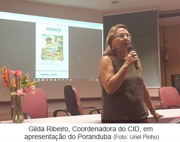 Gilda Ribeiro, Coordenadora do CID, em aprsentação do Poranduba