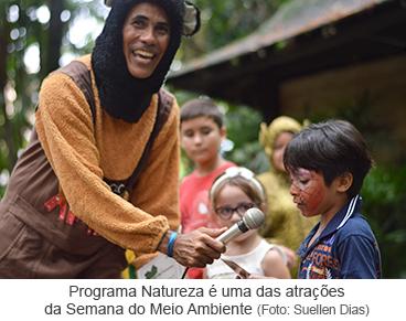 Programa Natureza é uma atrações da Semana do Meio Ambiente