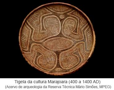Tigela da cultura Marajoara (400 a 1400 AD)