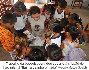 """Trabalho da pesquisadora deu suporte à criação do livro infantil """"Itaí - a carinha da pintura"""""""