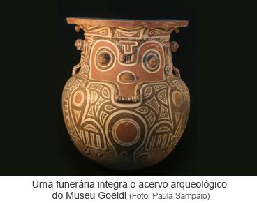 Urna funerária integra o acervo arqueológico