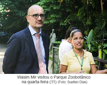 Wasim Mir visitou o Parque Zoobotânico na quarta-feira