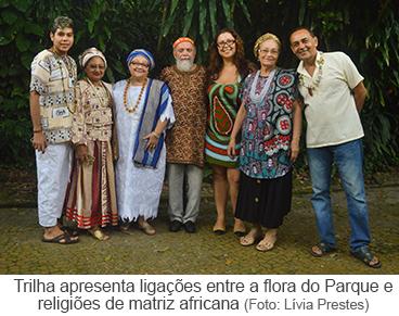 Trilha apresenta ligações entre a flora do Parque e religiões de matriz africana