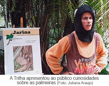 A trilha apresentou ao público curiosidades sobre as plameiras