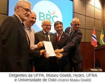 Dirigentes da UFPA, Museu Goeldi, Hydro, UFRA e Universidade de Oslo