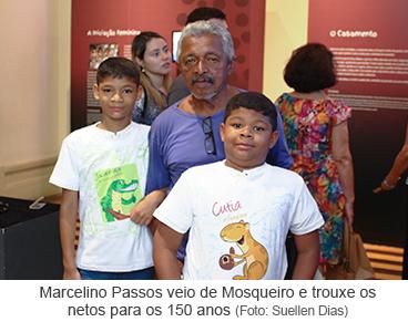 Marcelino Passos veio de Mosqueiro e trouxe os netos para os 150 anos.png