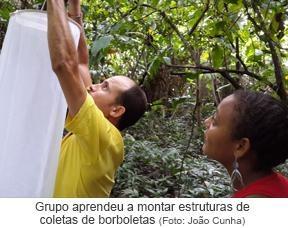 Grupo aprendeu a montar estruturas de coletas de borboletas