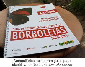 Comunitários receberam guias para identificar borboletas