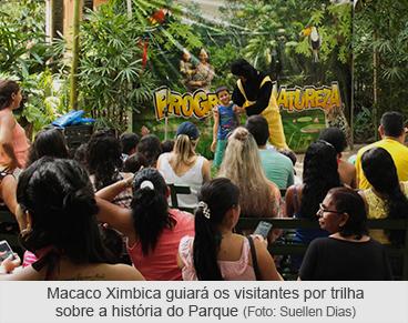 Macaco Ximbica guiará os visitantes por trilha sobre a história do Parque