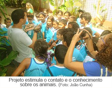 Projeto estimula o contato e o conhecimento sobre os animais