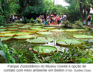 Parque Zoobotânico do Museu Goeldi é opção de contato com meio ambiente em Belém
