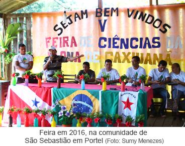 Feira em 2016 na comunidade de São Sebastião em Portel