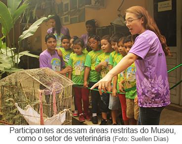 Participantes acessam áreas restritas do Museu como o setor de veterinária
