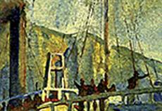 Detalhe da imagem da capa do livro O último vapor: ascensão e queda da borracha na Amazônia (1820-1930)