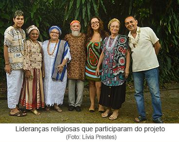 Lideranças religiosas que participam do projeto