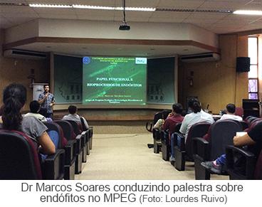 Dr Marcos Soares conduzido palestra sobre endófilos no MPEG