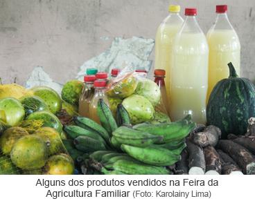 Alguns dos produtos vendidos na Feira da Agricultura Familiar.