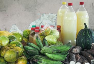 Produtos vendidos na Feira da Agricultura Familiar