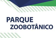 Imagem de fundo branco com as palavras Parque Zoobotânico
