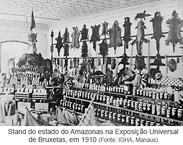 Stand do estado do Amazonas na Exposição Universal de Bruxelas, em 1910