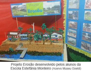 Projeto Erosão desenvolvido pelos alunos da Escola Estefânia Monteiro
