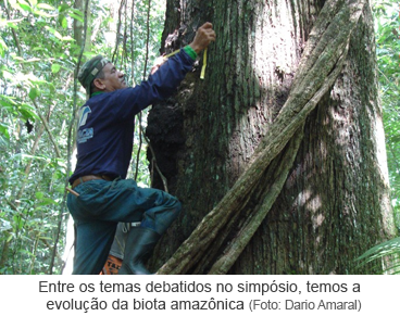 Entre os temas debatidos no simpósio, temos a evolução da biota amazônica.png