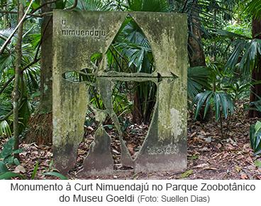 Monumento à Curt Nimuendajú no Parque Zoobotânico do Museu Goeldi