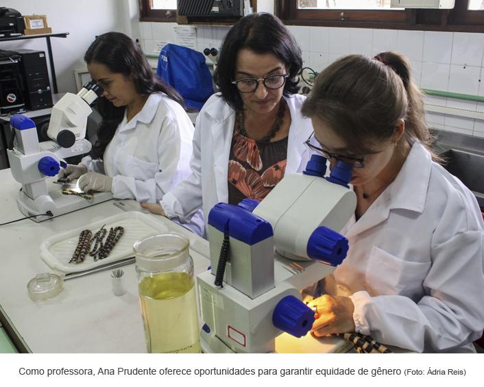 Como professora, Ana Prudente oferece oportunidades para garantir equidade de gênero. Foto: Ádria Reis
