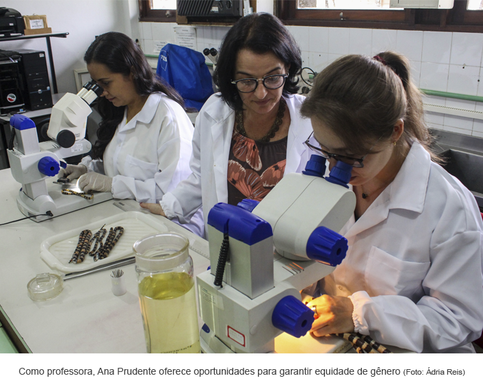 Como professora, Ana Prudente oferece oportunidades para garantir equidade de gênero