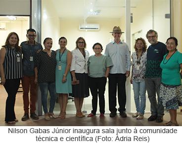 Nilson Gabas Júnior inaugura sala junto à comunidade técnica e científica (Foto: Ádria Reis)