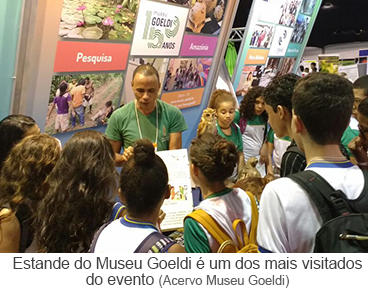 Estande do museu Goeldi é um dos mais visitados do evento