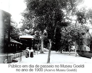 Público em dia de passeio no Museu Goeldi no ano de 1900