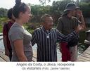 Angelo da Costa, o Jiloca, recepciona os visitantes
