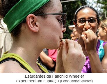 Estudantes da Fairchild Wheeler experimentam cupuaçu