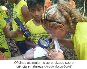 Oficinas estimulam o aprendizado sobre ciência e natureza