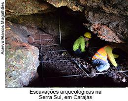 Escavações arqueológicas na Serra Sul, em Carajás