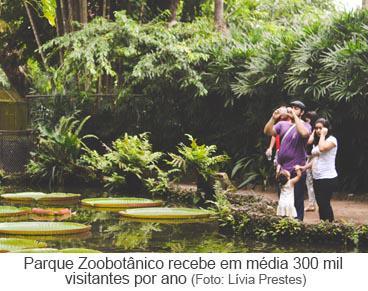 Visitantes no Parque Zoobotânico do Museu Goeldi