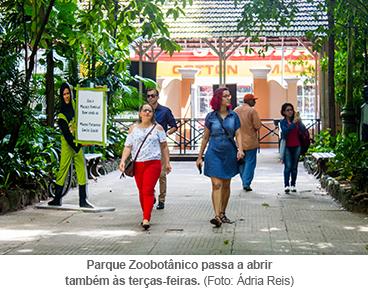 Parque Zoobotânico passa a abrir também às terças-feiras.