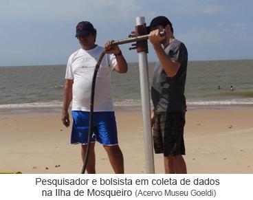 pesquisador e bolsista em coleta de dados na Ilha de Mosqueiro