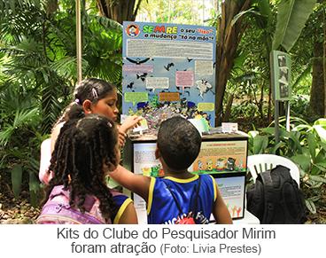 Kits do Clube do Pesquisador Mirim foram atração