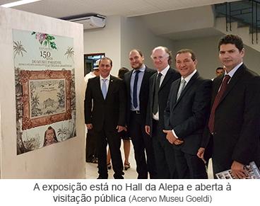 A exposição está no Hall da Alepa e aberta à visitação pública