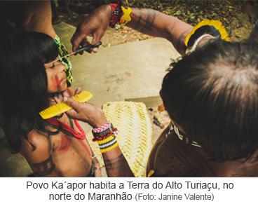 Povo Ka'apor habita a Terra do Alto Turiaçu, no norte do Maranhão.png